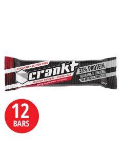Crankt Protein Bar 55g - 12pk - Choc Raspberry