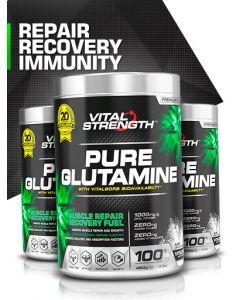 Vital Strength Glutamine Powder - Recovery Fuel 450g