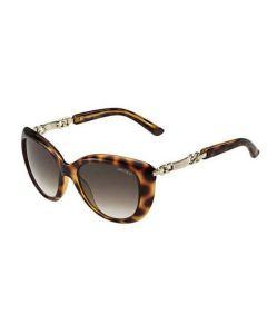 Jimmy Choo Wigmore Sunglasses  BME HA Havana Rose Gold Frame Brown Gradient Lens - Genuine Australian Stock
