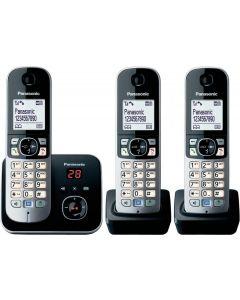 Panasonic Digital Cordless Answering System with 3 Handsets (KX-TG6823ALB)