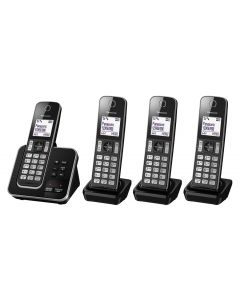 Panasonic Digital Cordless Phone + Answering System - 4 Handset (KX-TGD324ALB)